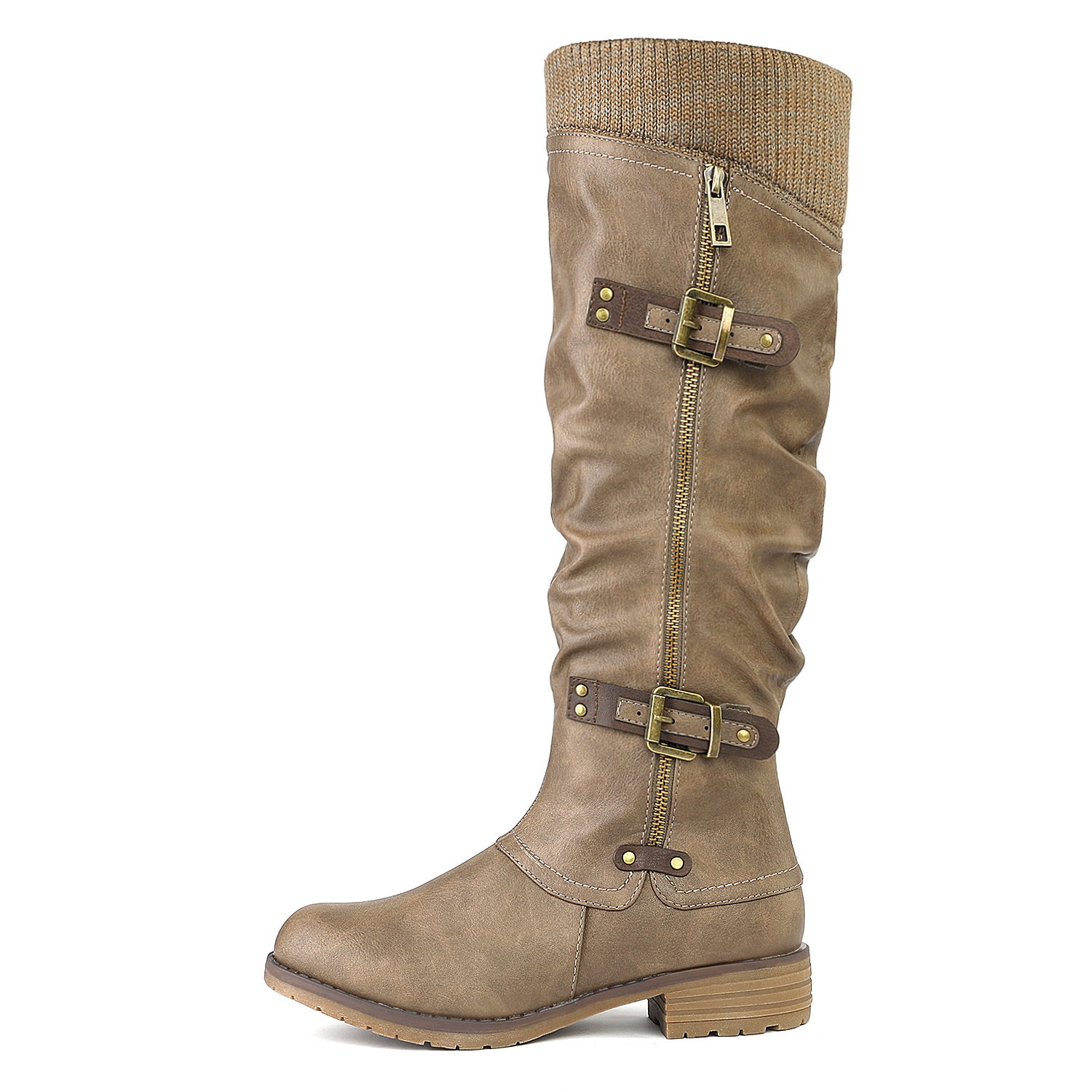 DREAM-PAIRS-Womens-DEPP-Cowgirl-Soft-PU-Leather-Combat-Knee-High-Riding-Boots thumbnail 27