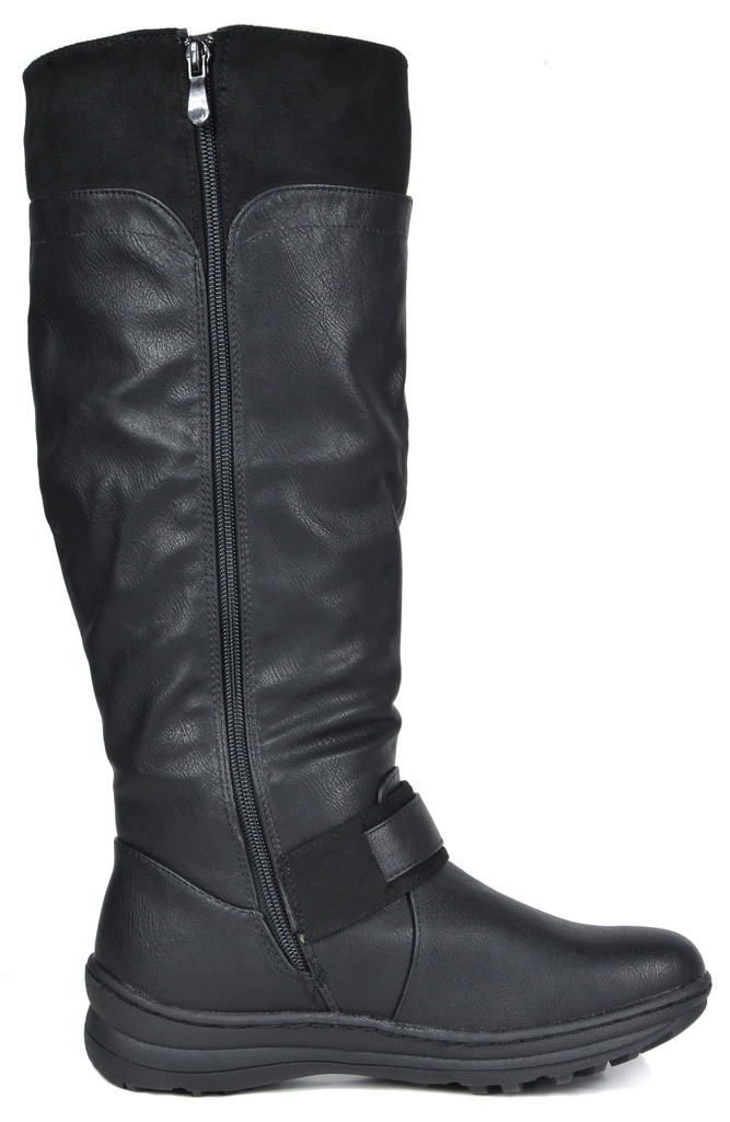 DREAM PAIRS Womens Winter Fully Fur Lined Zipper Closure Snow Knee High Boots Wide-Calf