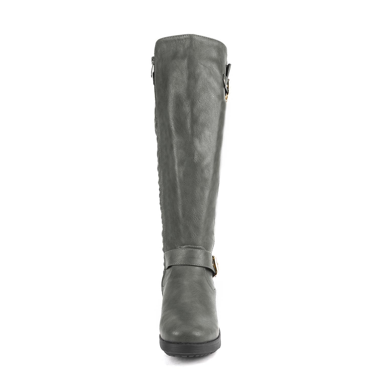 DREAM-PAIRS-Women-UTAH-Inner-Zipper-Knee-High-Riding-Boots-Wide-Calf-Available thumbnail 48