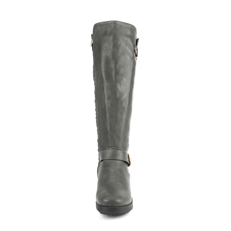 DREAM-PAIRS-Women-UTAH-Inner-Zipper-Knee-High-Riding-Boots-Wide-Calf-Available thumbnail 51