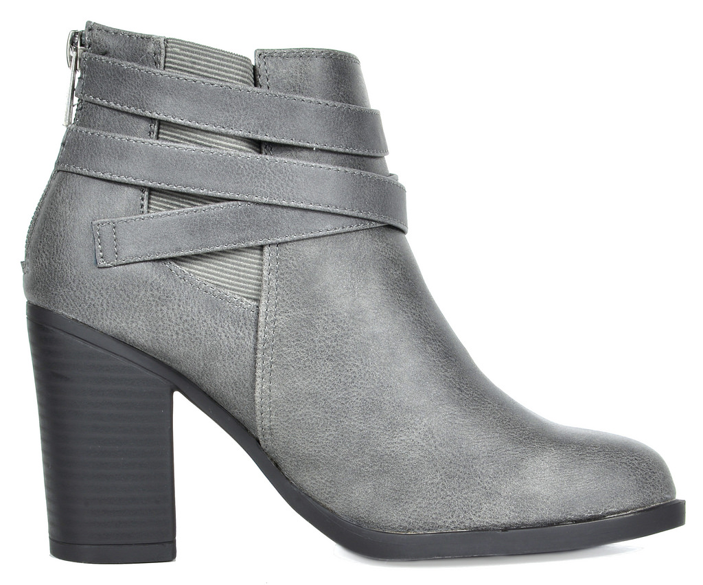 00df363fbdd Details about TOETOS CHICAGO-03 Women's Stylish Cowboy Chunky Block Heel  Zipper Ankle Booties
