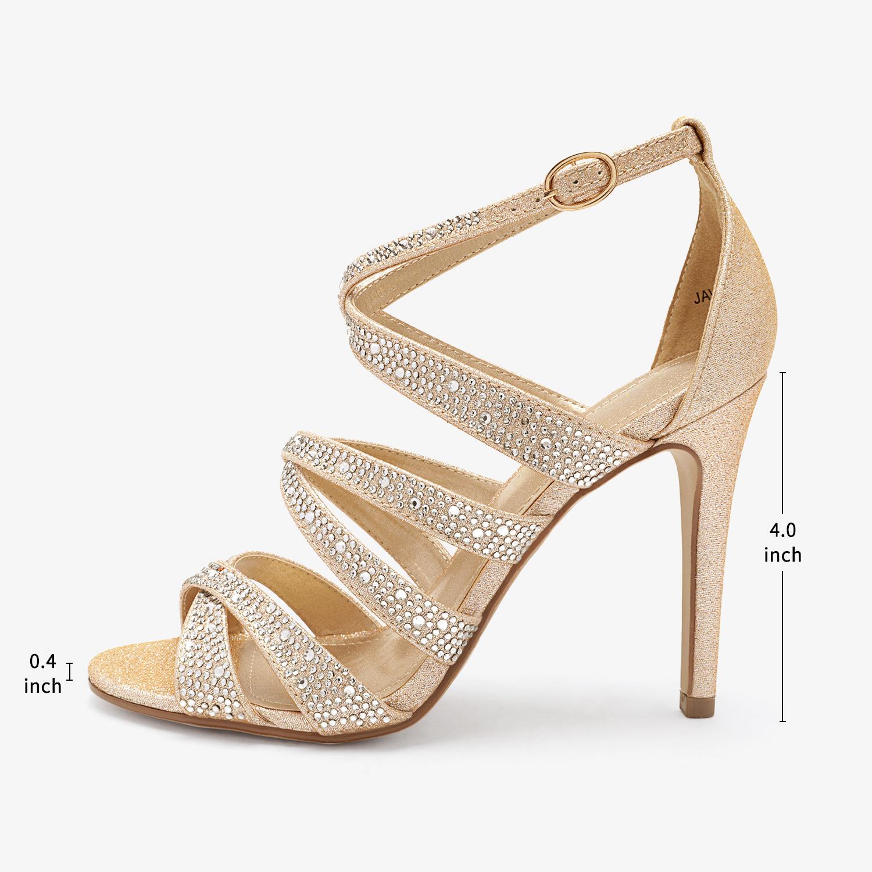thumbnail 3 - DREAM PAIRS Women's Stilettos  High Heel Sandals Open Toe Dress Pump Sandals