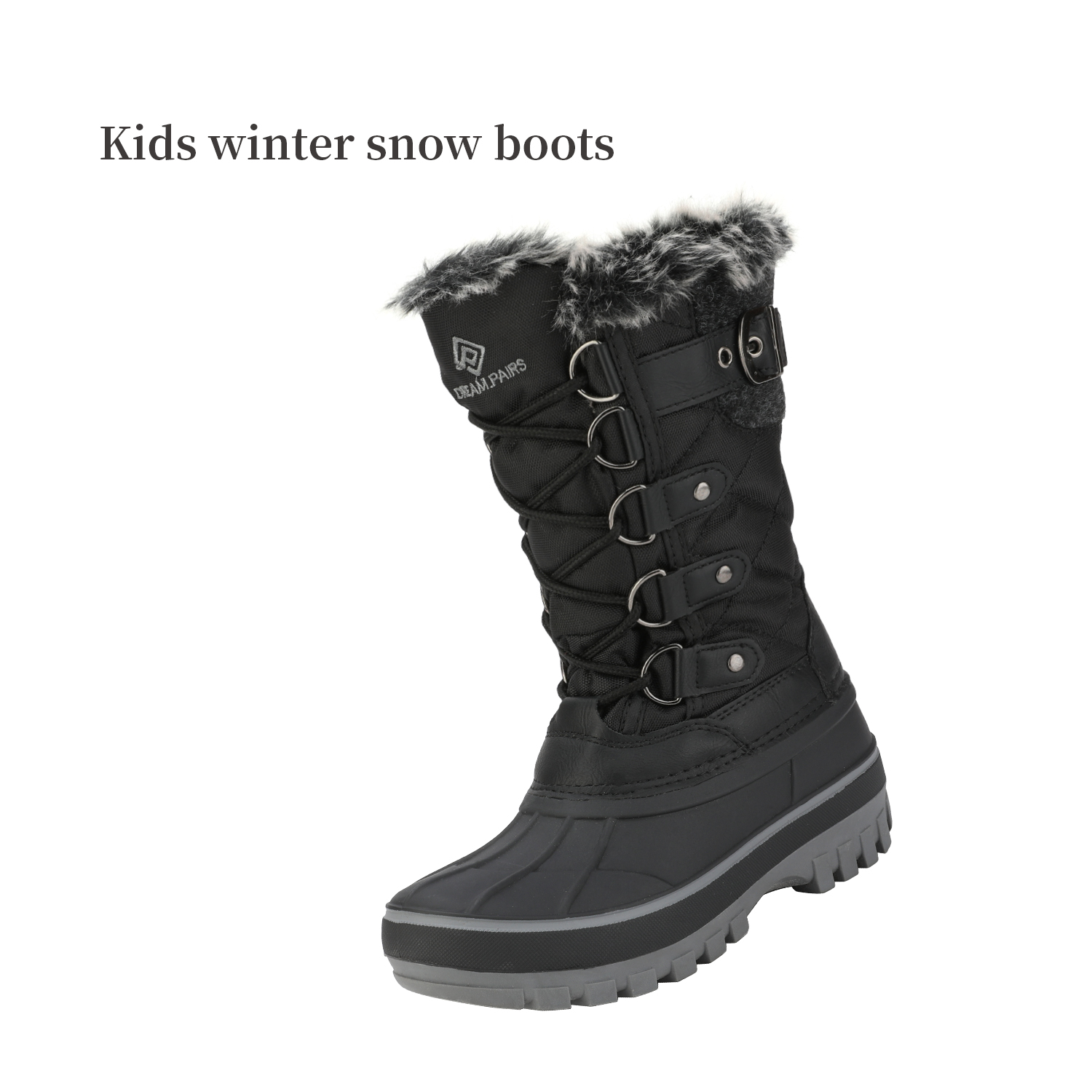 DREAM PAIRS Toddler Kids Winter Sneakers Shoes Girls Boys Warm  Snow Ankle Boots