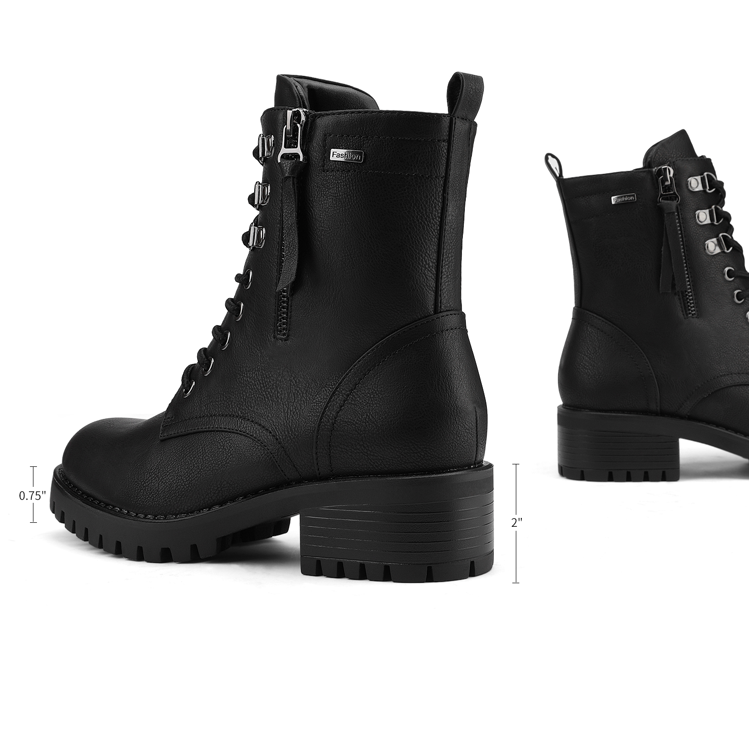 Women's Ankle Boots Lace Up Zip Low