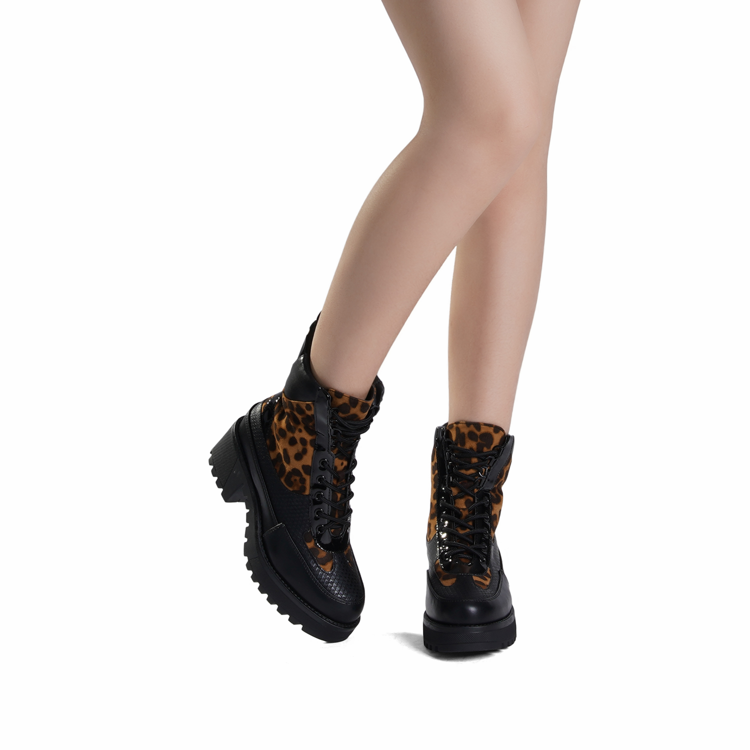 DREAM-PAIRS-Women-Lace-Up-Ankle-Boots-Platform-Chunky-Heel-Martin-Combat-Boots thumbnail 18