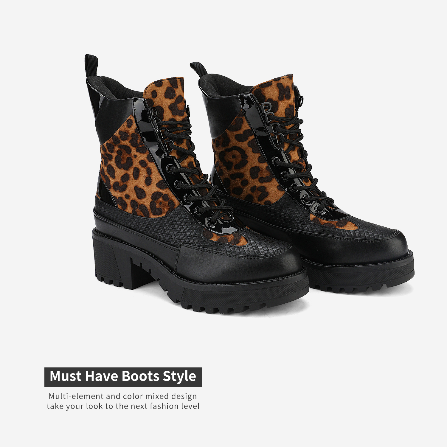 DREAM-PAIRS-Women-Lace-Up-Ankle-Boots-Platform-Chunky-Heel-Martin-Combat-Boots thumbnail 17