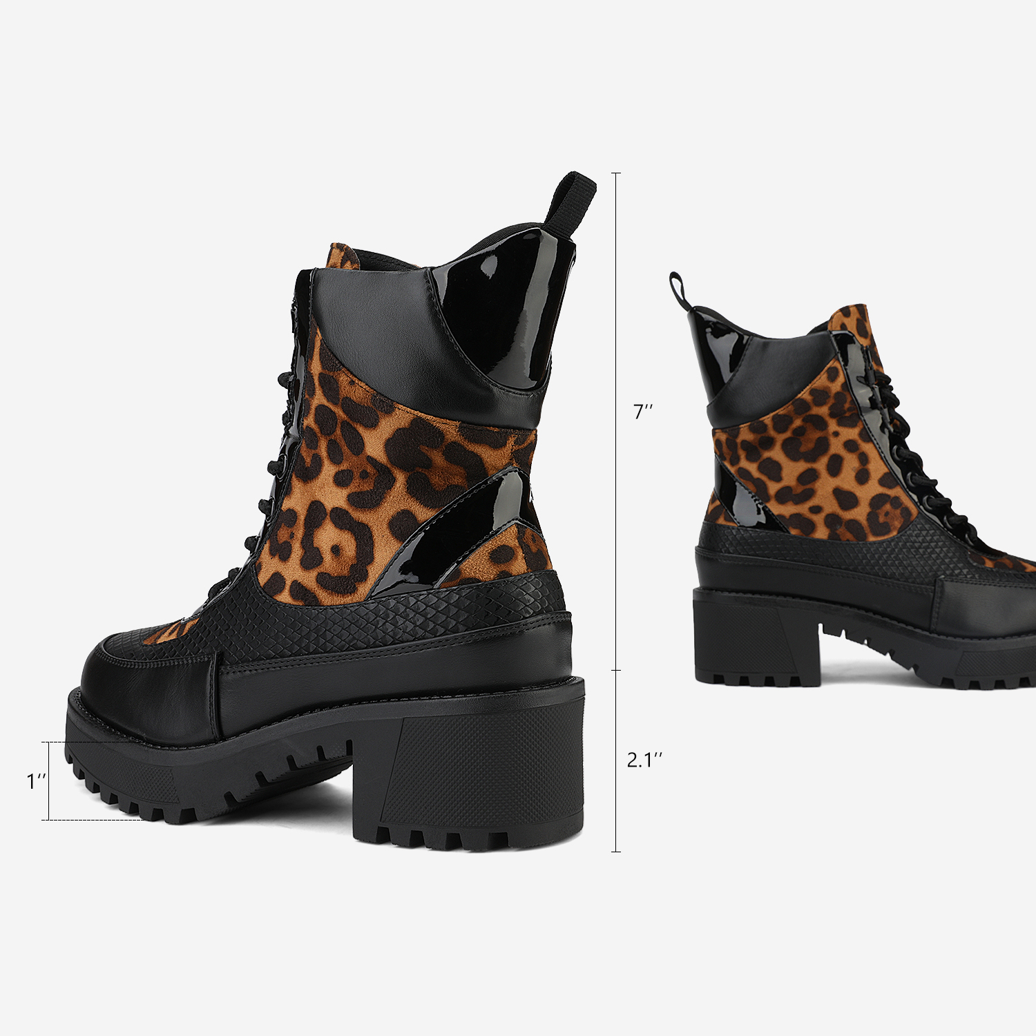 DREAM-PAIRS-Women-Lace-Up-Ankle-Boots-Platform-Chunky-Heel-Martin-Combat-Boots thumbnail 16