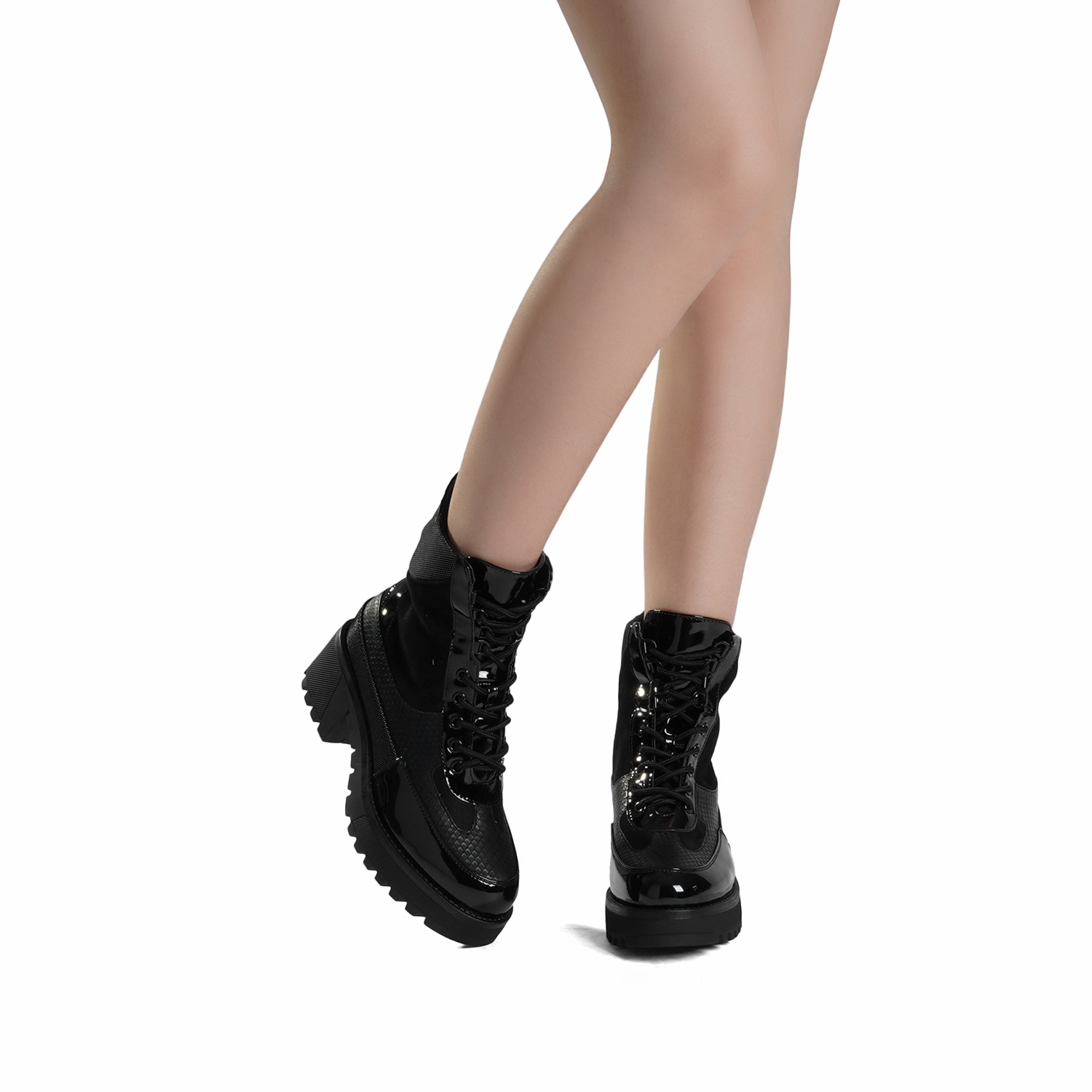 DREAM-PAIRS-Women-Lace-Up-Ankle-Boots-Platform-Chunky-Heel-Martin-Combat-Boots thumbnail 6