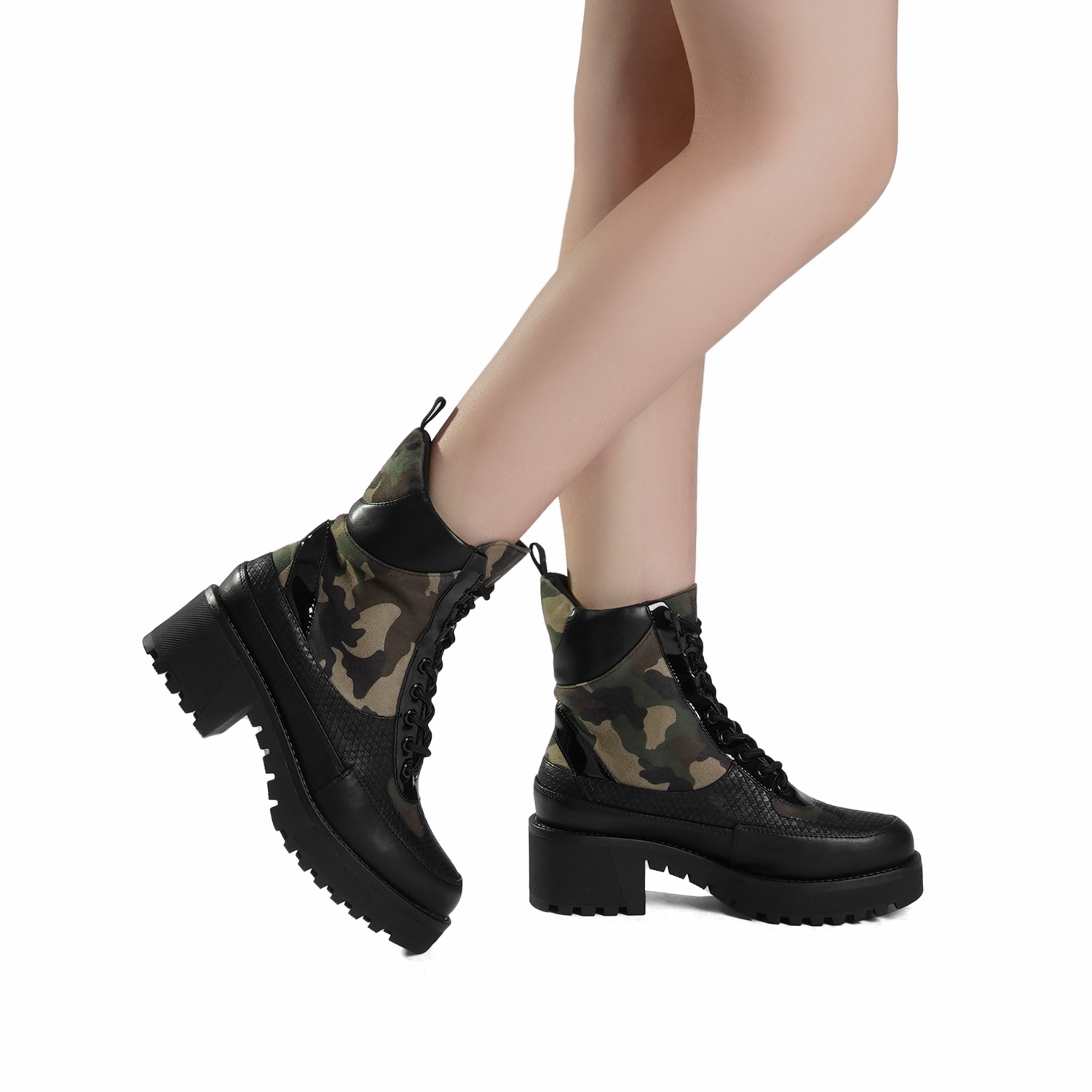 DREAM-PAIRS-Women-Lace-Up-Ankle-Boots-Platform-Chunky-Heel-Martin-Combat-Boots thumbnail 13