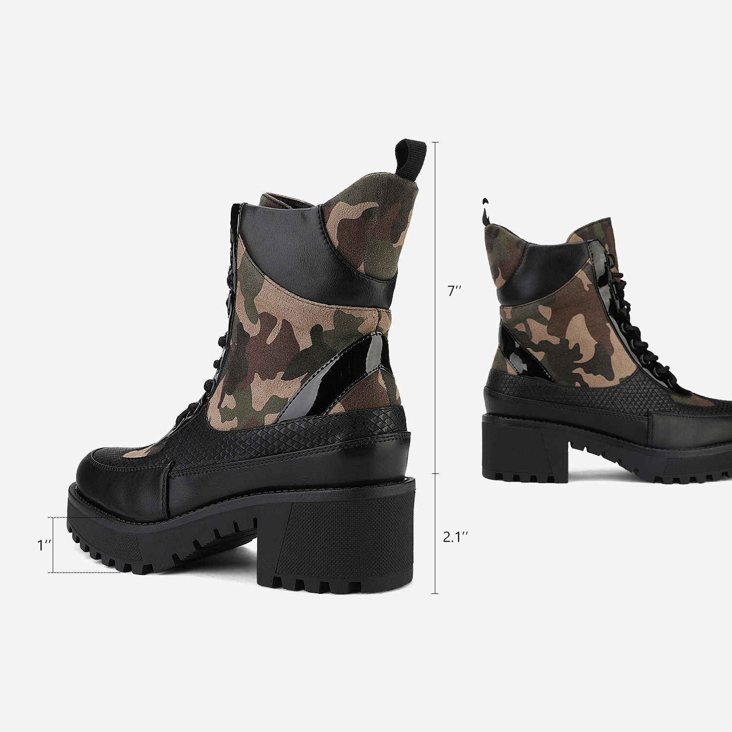 DREAM-PAIRS-Women-Lace-Up-Ankle-Boots-Platform-Chunky-Heel-Martin-Combat-Boots thumbnail 10