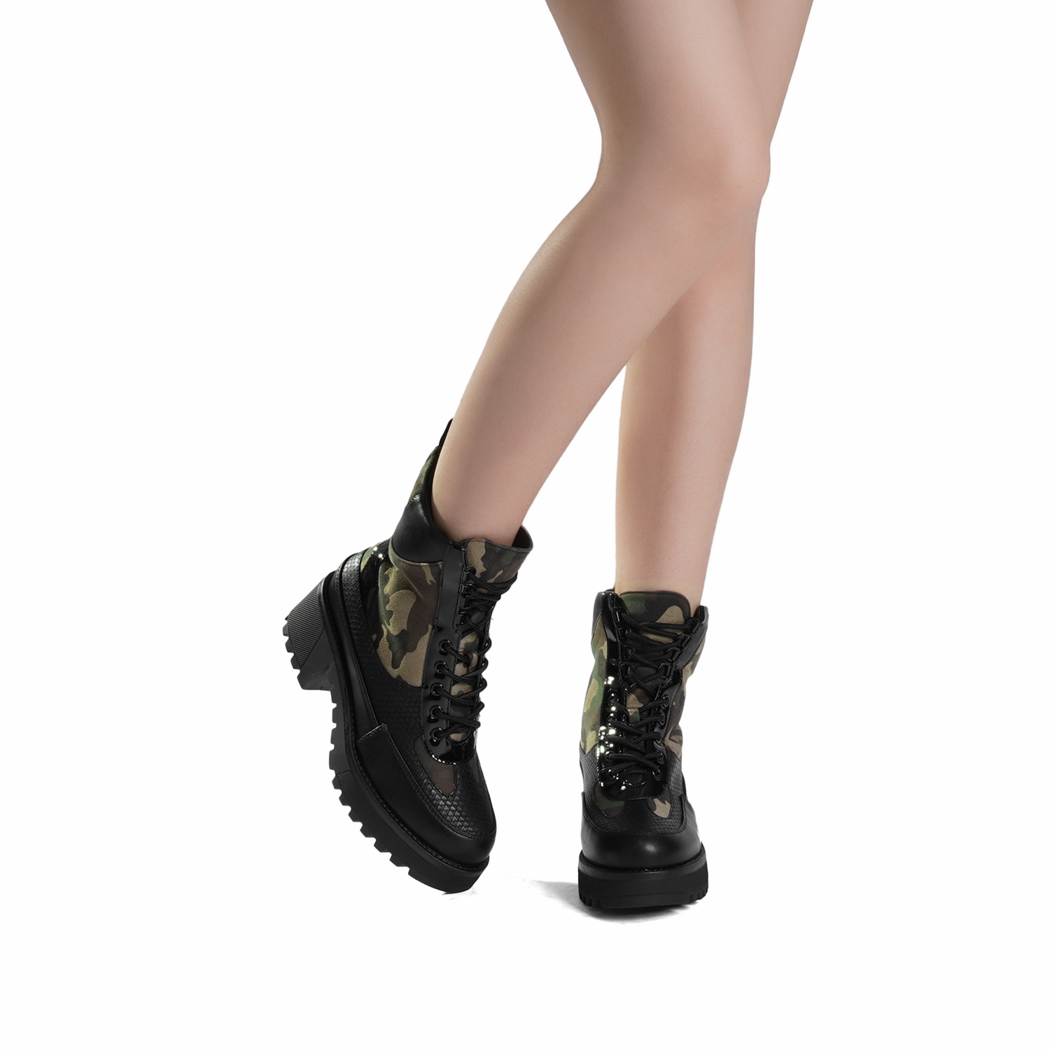 DREAM-PAIRS-Women-Lace-Up-Ankle-Boots-Platform-Chunky-Heel-Martin-Combat-Boots thumbnail 12