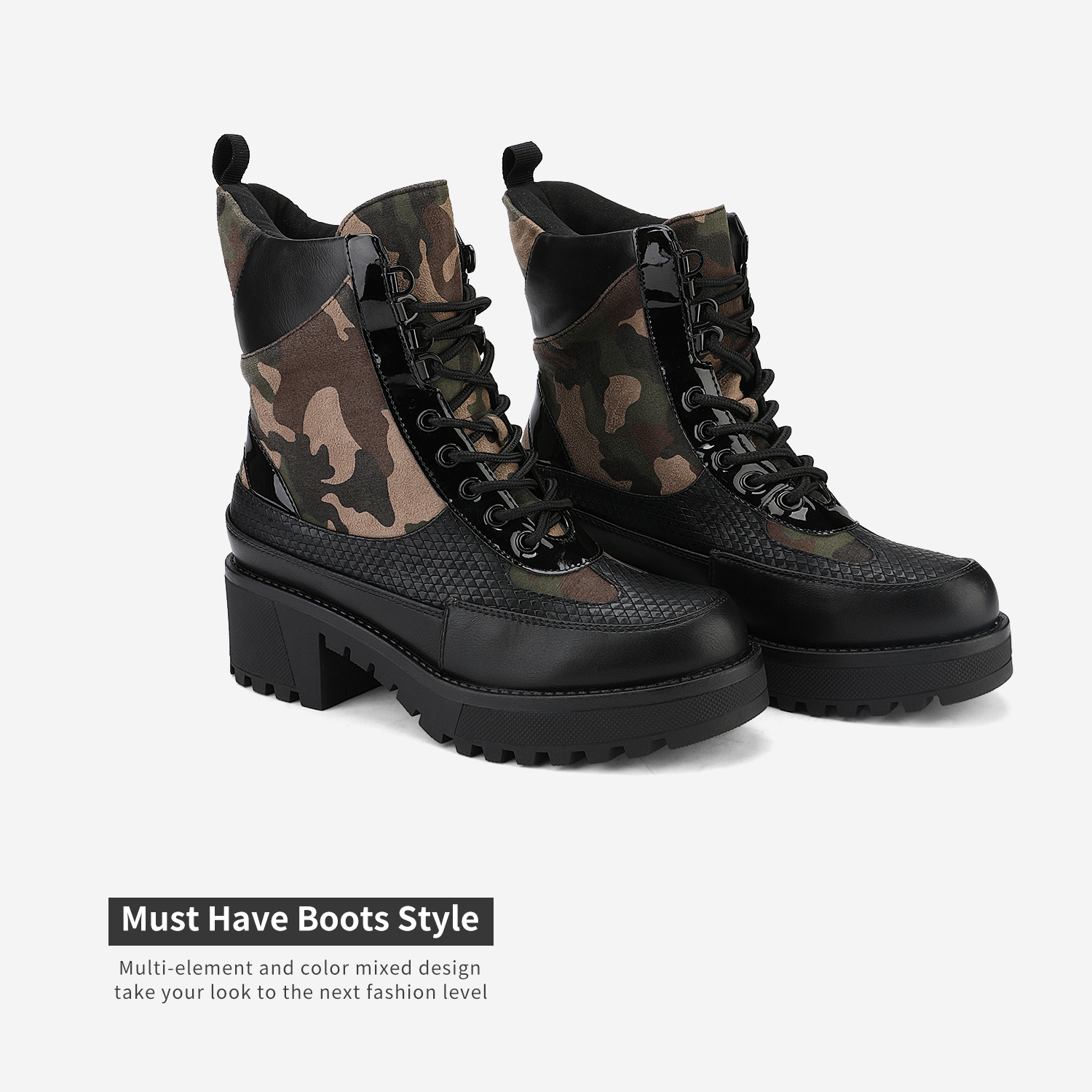 DREAM-PAIRS-Women-Lace-Up-Ankle-Boots-Platform-Chunky-Heel-Martin-Combat-Boots thumbnail 11