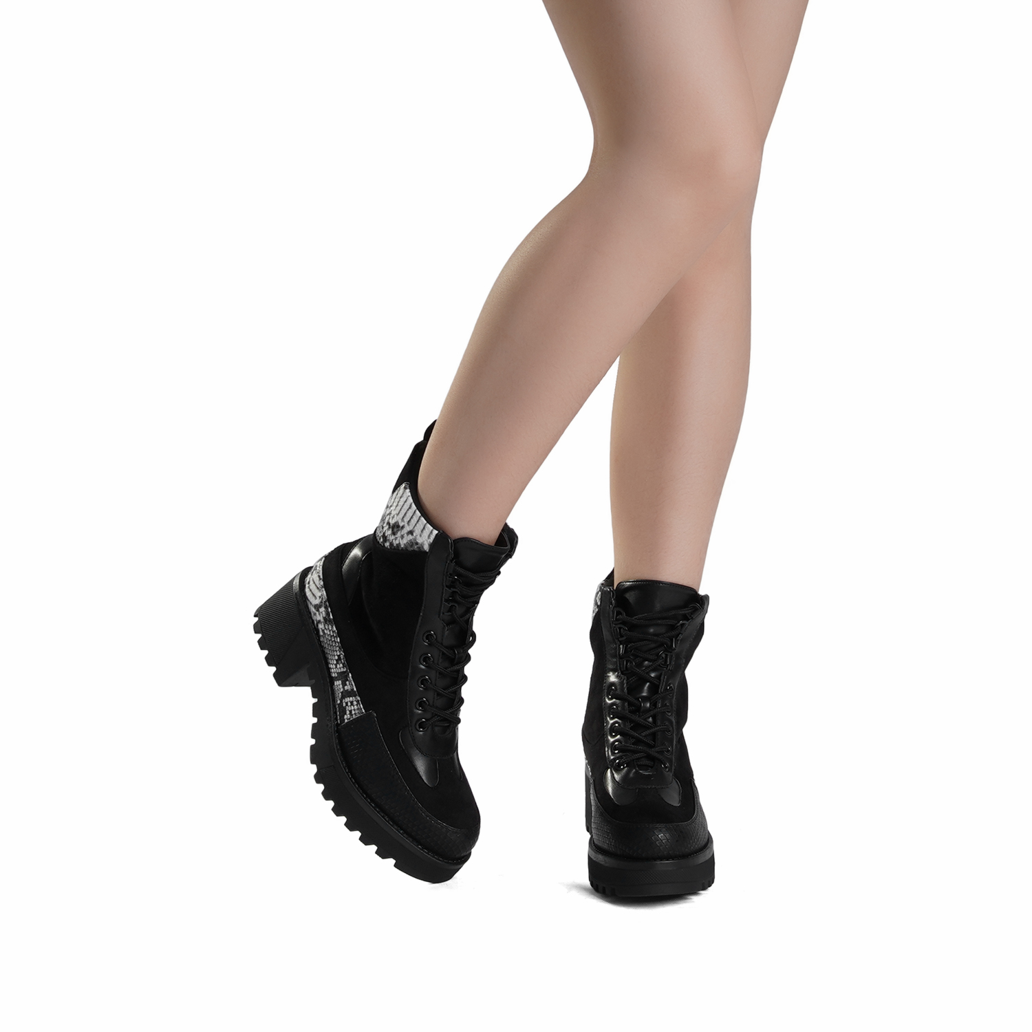 DREAM-PAIRS-Women-Lace-Up-Ankle-Boots-Platform-Chunky-Heel-Martin-Combat-Boots thumbnail 24
