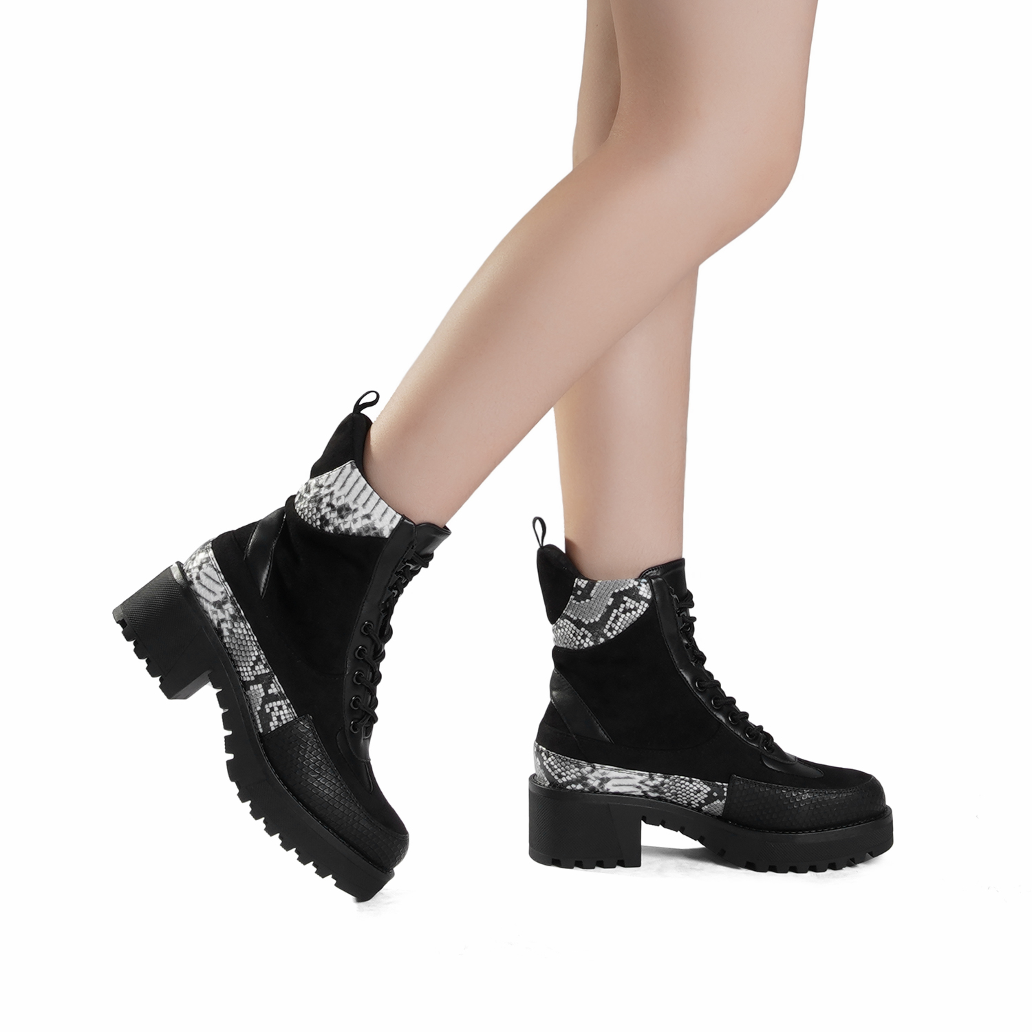 DREAM-PAIRS-Women-Lace-Up-Ankle-Boots-Platform-Chunky-Heel-Martin-Combat-Boots thumbnail 25