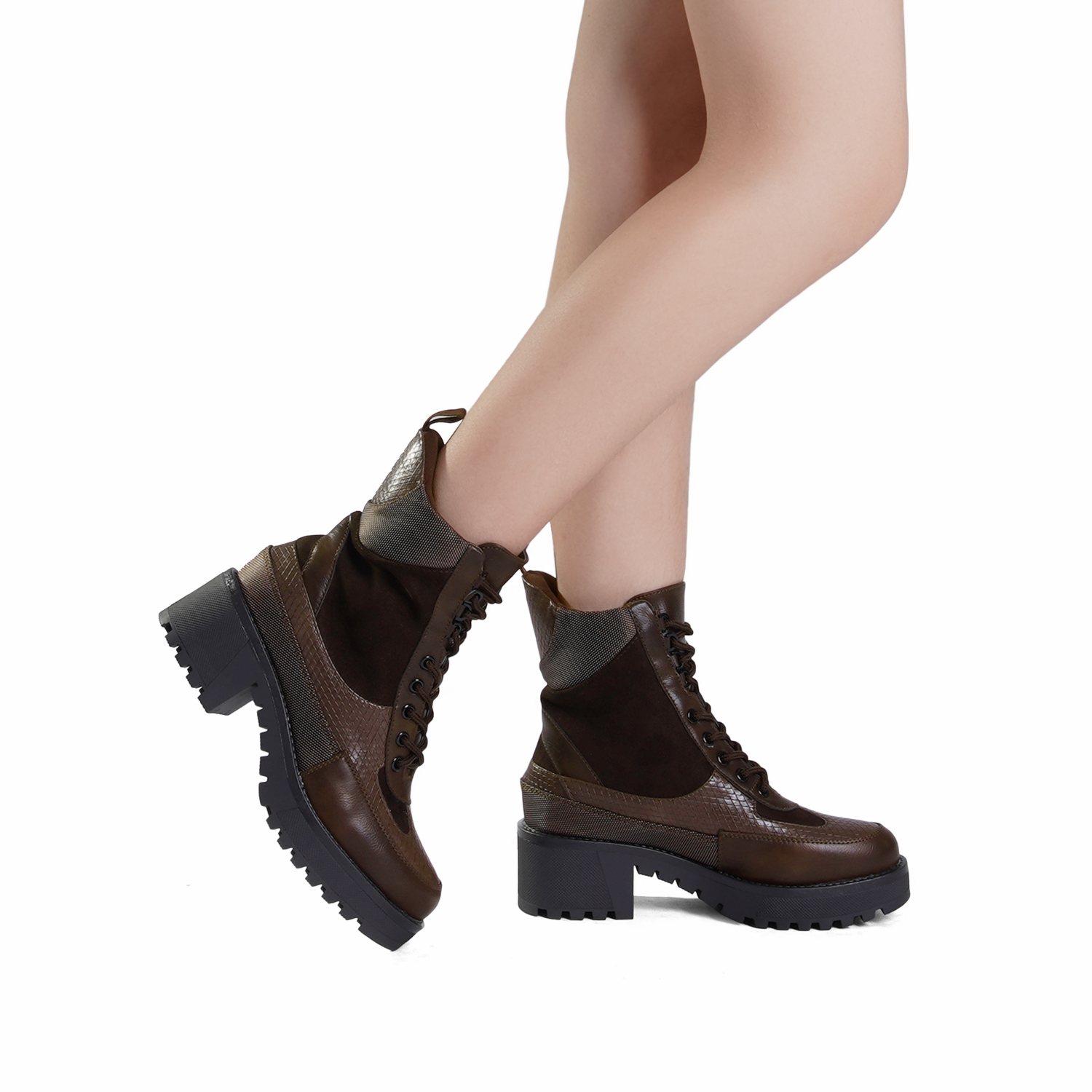 DREAM-PAIRS-Women-Lace-Up-Ankle-Boots-Platform-Chunky-Heel-Martin-Combat-Boots thumbnail 31