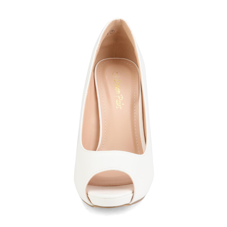 Women/'s Pump Shoes Stilettos High heel Pep Toe Slip On Dress Shoes Size 5-11
