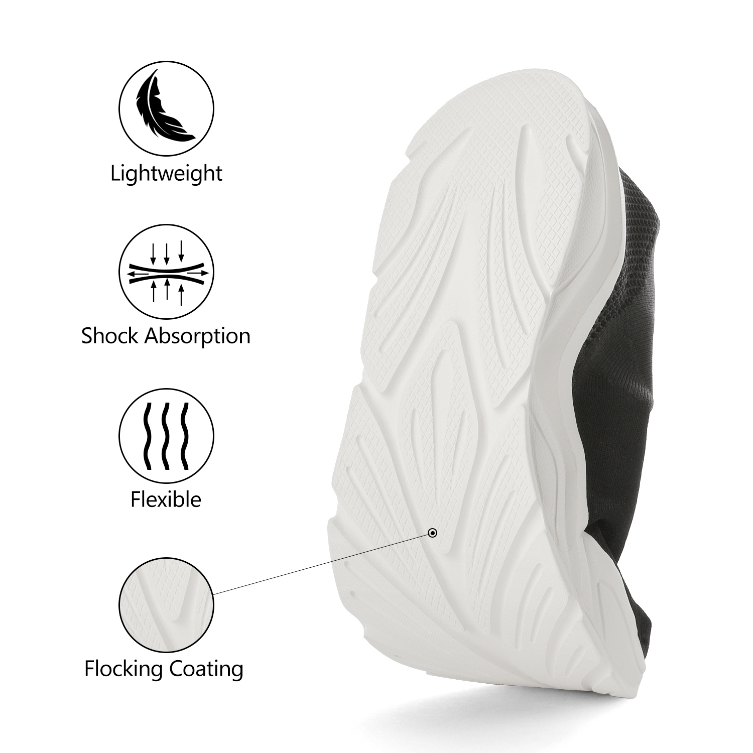 DREAM-PAIRS-Mens-Sports-Shoes-Breathable-Mesh-Running-Shoe-High-Top-Sock-Sneaker thumbnail 15