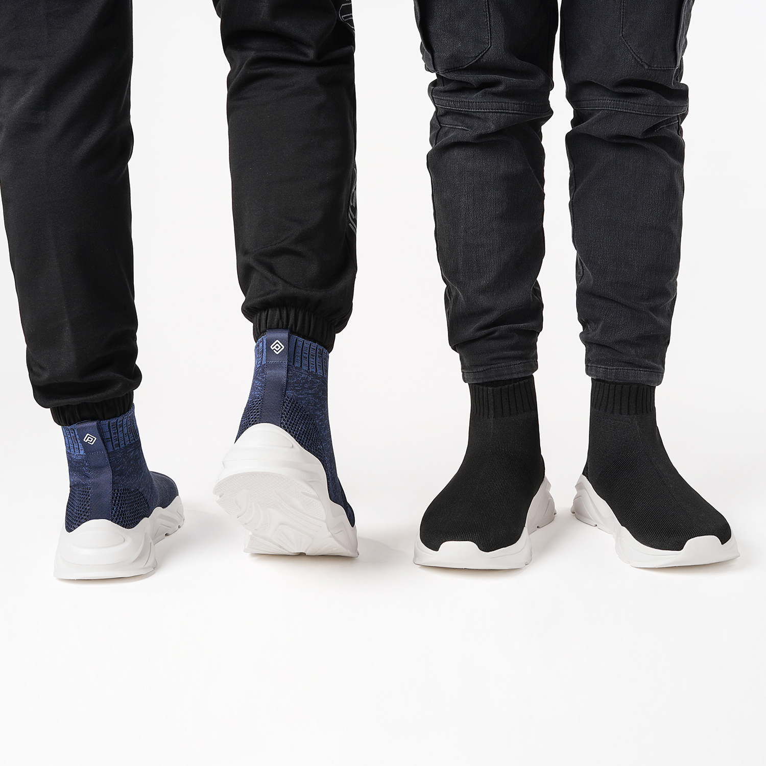 DREAM-PAIRS-Mens-Sports-Shoes-Breathable-Mesh-Running-Shoe-High-Top-Sock-Sneaker thumbnail 16