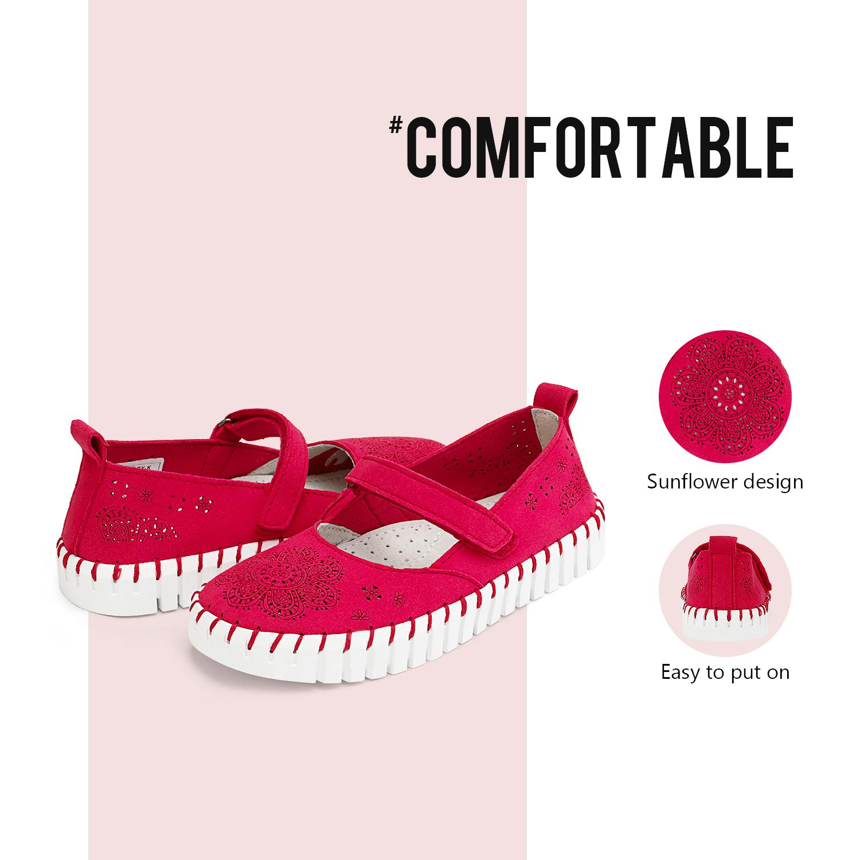 miniature 15 - Dream Paires Filles Plates Chaussures Robe Chaussures à Enfiler Ballerine Mocassins