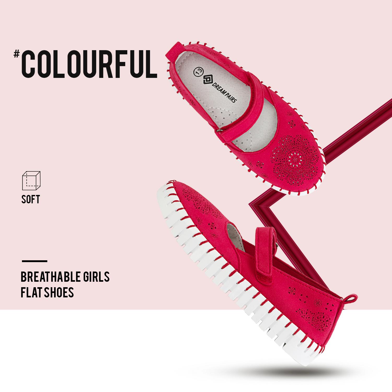 miniature 13 - Dream Paires Filles Plates Chaussures Robe Chaussures à Enfiler Ballerine Mocassins