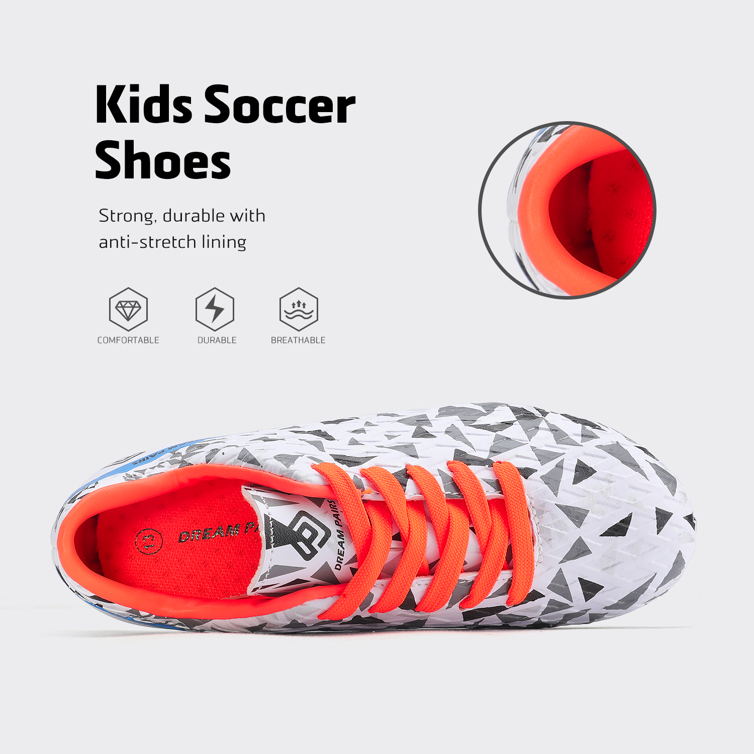 miniature 9 - Men's Kids Football Chaussures Crampons Football Indoor Sports Baskets Sneakers Fashion