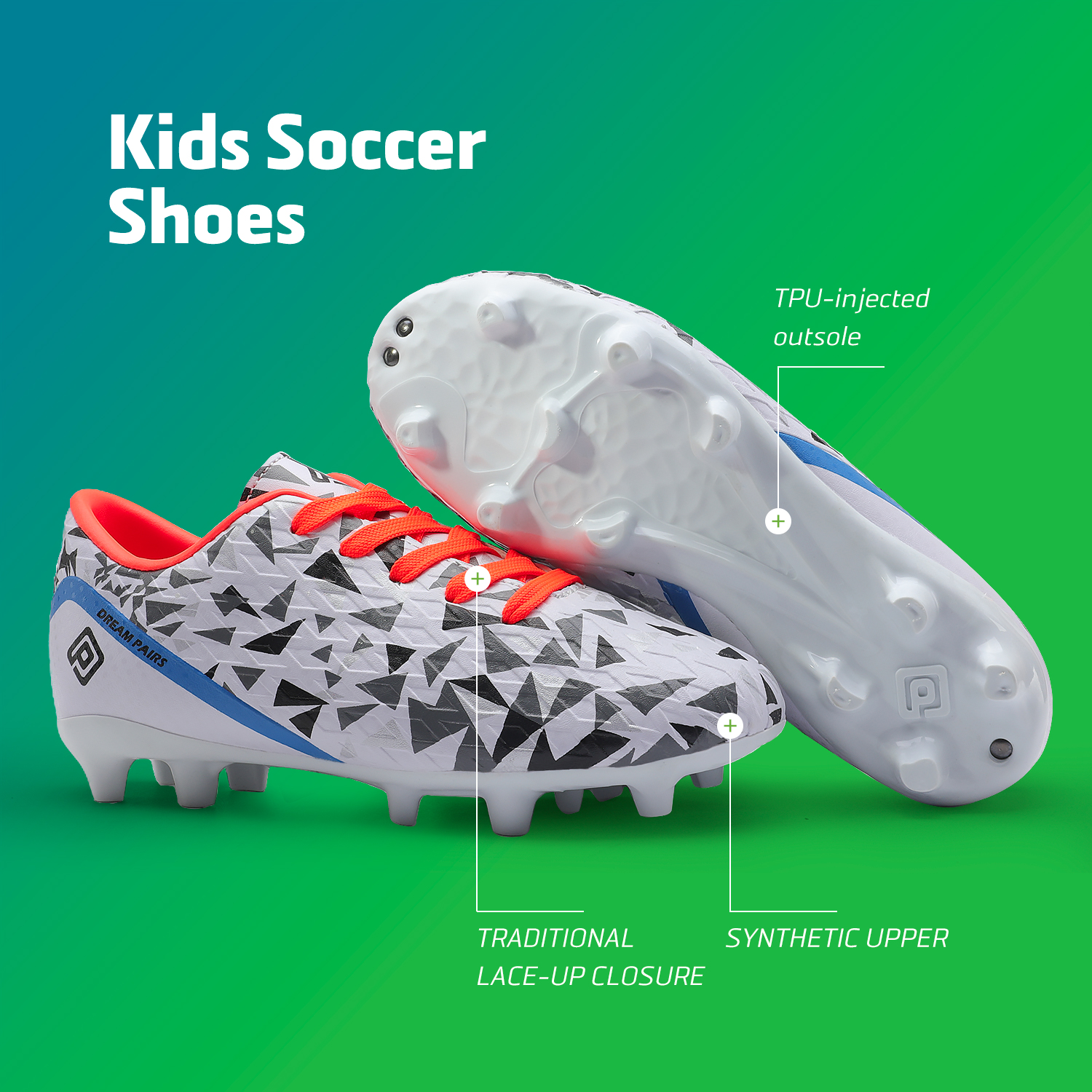 miniature 12 - Men's Kids Football Chaussures Crampons Football Indoor Sports Baskets Sneakers Fashion
