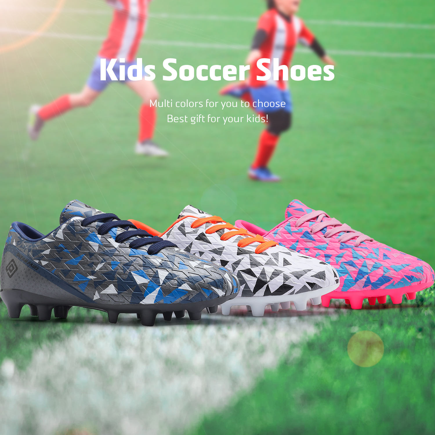 miniature 13 - Men's Kids Football Chaussures Crampons Football Indoor Sports Baskets Sneakers Fashion