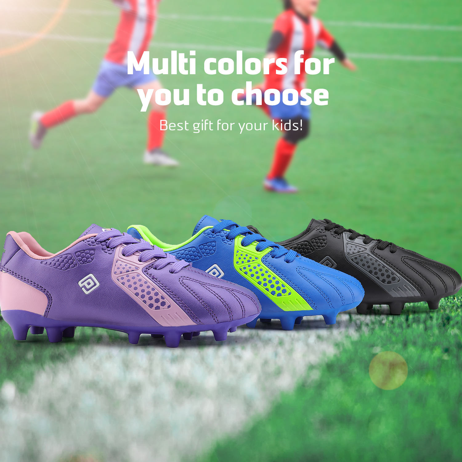 miniature 19 - Men's Kids Football Chaussures Crampons Football Indoor Sports Baskets Sneakers Fashion