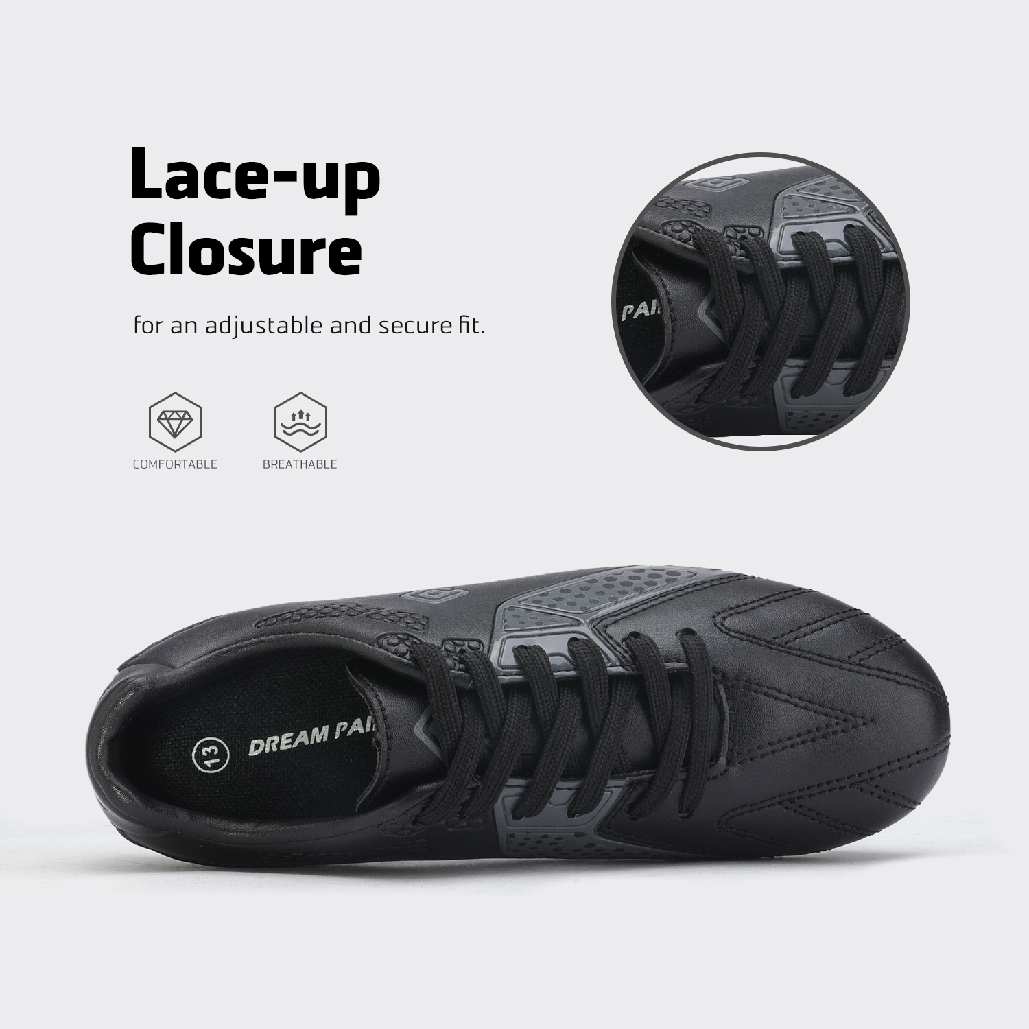 miniature 17 - Men's Kids Football Chaussures Crampons Football Indoor Sports Baskets Sneakers Fashion