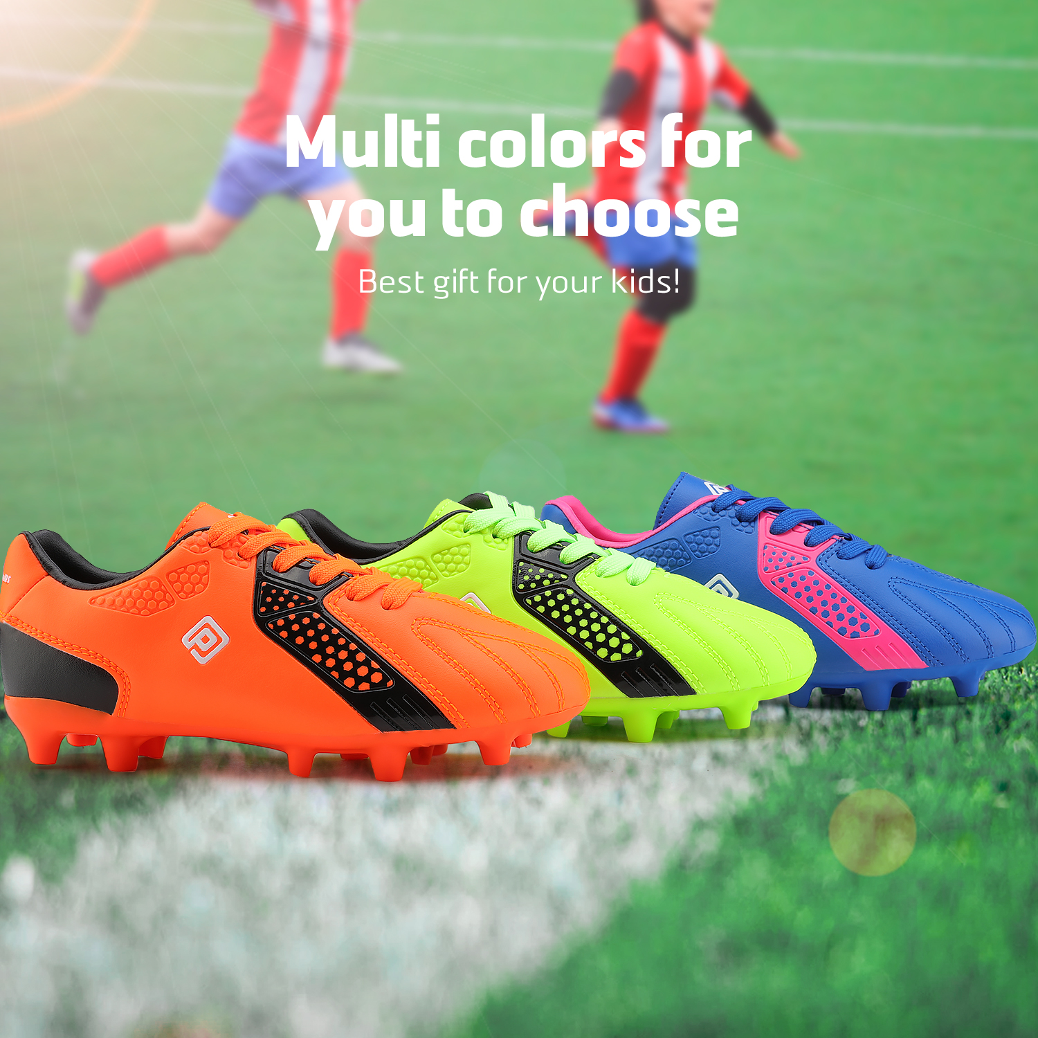 miniature 25 - Men's Kids Football Chaussures Crampons Football Indoor Sports Baskets Sneakers Fashion