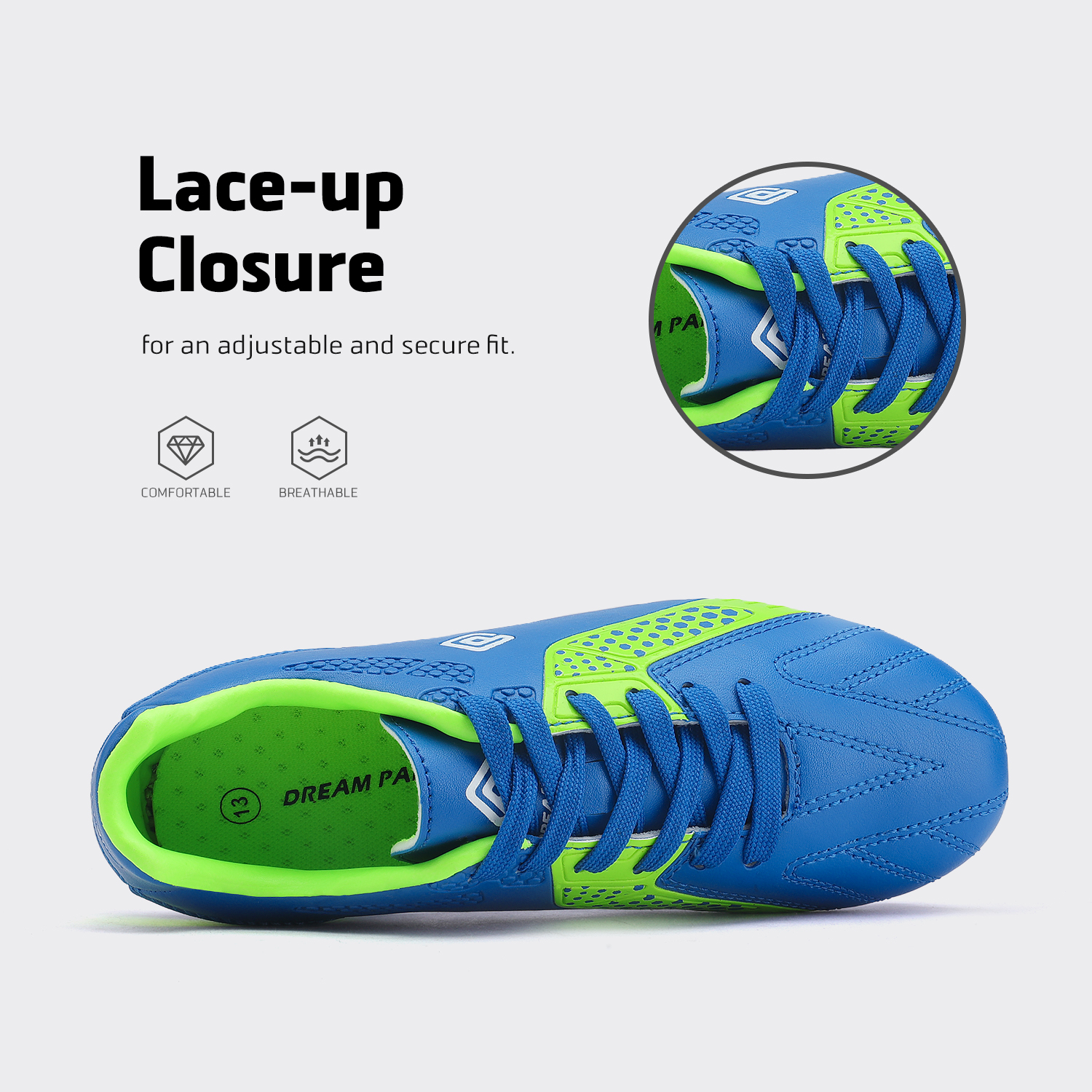 miniature 35 - Men's Kids Football Chaussures Crampons Football Indoor Sports Baskets Sneakers Fashion