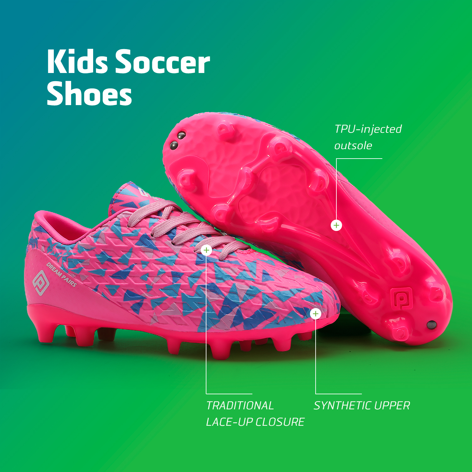 miniature 54 - Men's Kids Football Chaussures Crampons Football Indoor Sports Baskets Sneakers Fashion