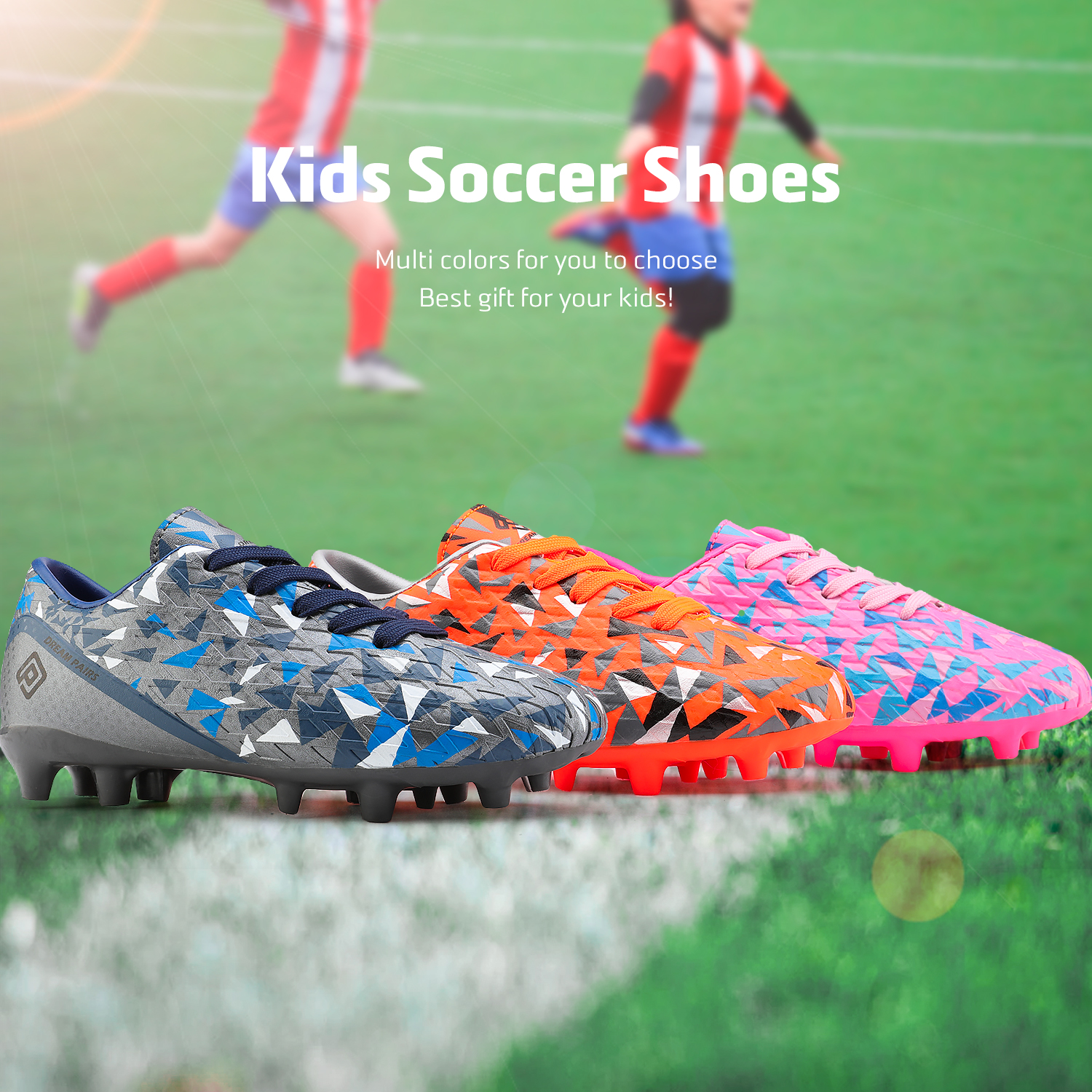 miniature 55 - Men's Kids Football Chaussures Crampons Football Indoor Sports Baskets Sneakers Fashion