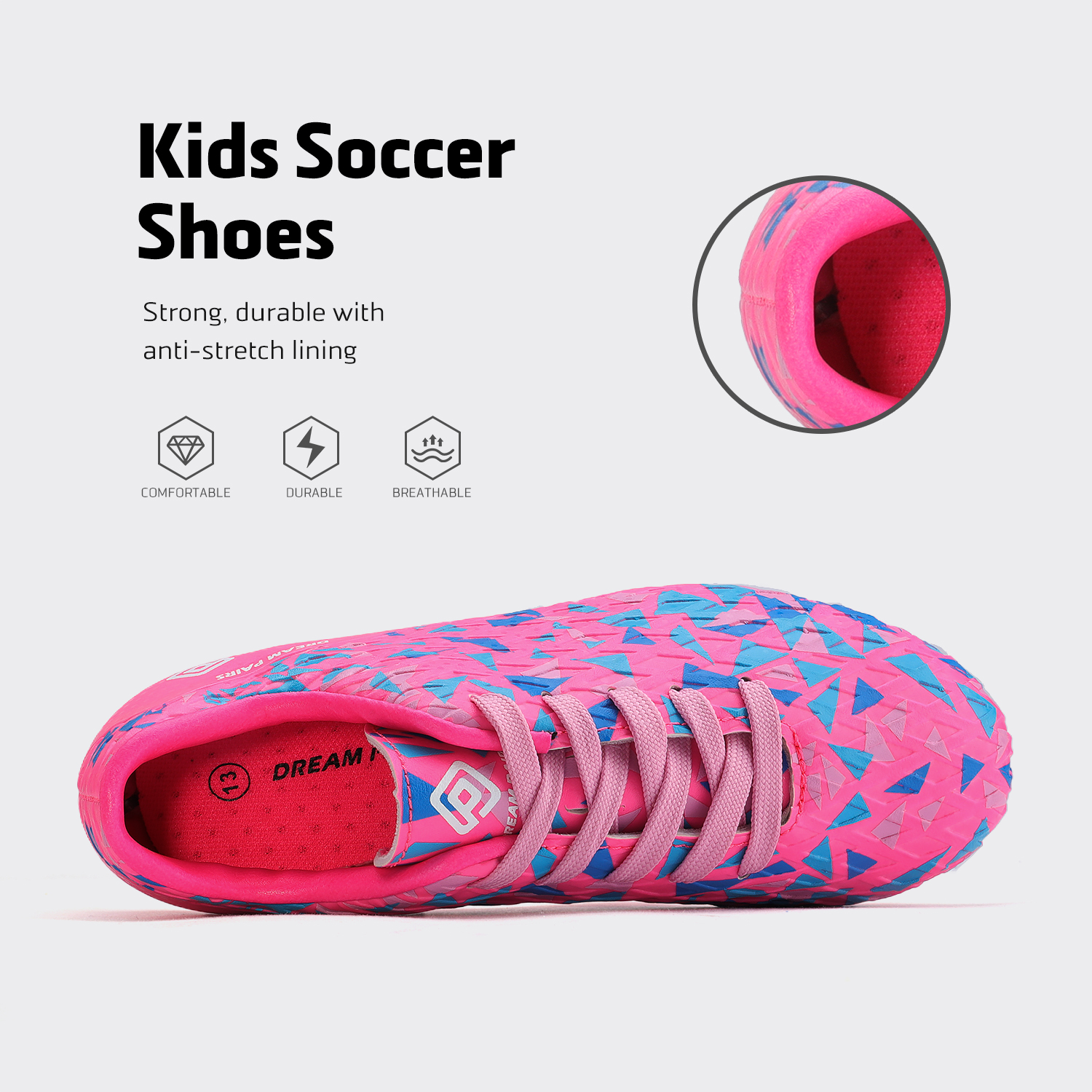 miniature 51 - Men's Kids Football Chaussures Crampons Football Indoor Sports Baskets Sneakers Fashion