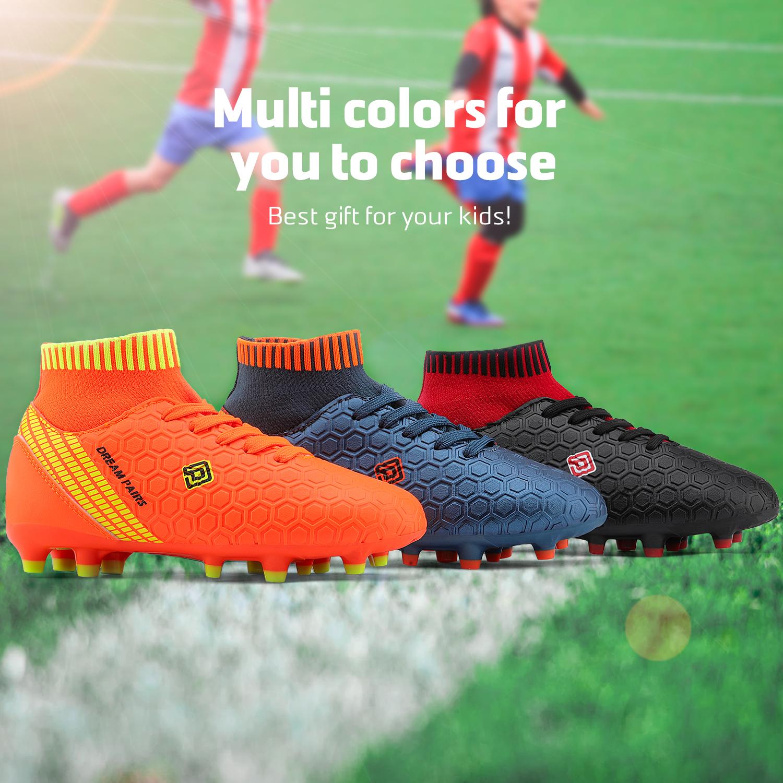 Dream-Paires-Garcons-Filles-Nouveau-Leger-HZ19007K-Football-Crampons-Soccer-Shoes miniature 7