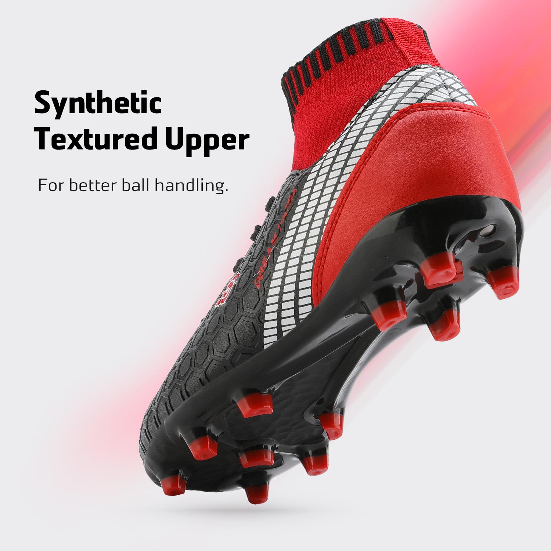 Dream-Paires-Garcons-Filles-Nouveau-Leger-HZ19007K-Football-Crampons-Soccer-Shoes miniature 4