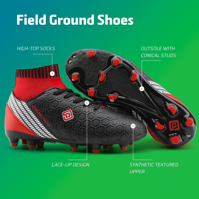 Dream-Paires-Garcons-Filles-Nouveau-Leger-HZ19007K-Football-Crampons-Soccer-Shoes miniature 6