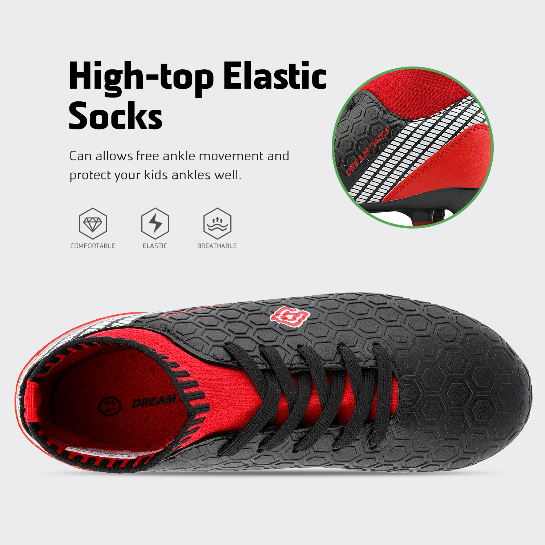 Dream-Paires-Garcons-Filles-Nouveau-Leger-HZ19007K-Football-Crampons-Soccer-Shoes miniature 5