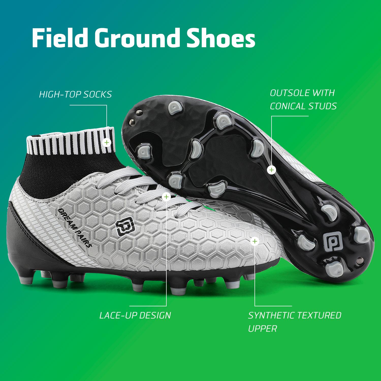 Dream-Paires-Garcons-Filles-Nouveau-Leger-HZ19007K-Football-Crampons-Soccer-Shoes miniature 12