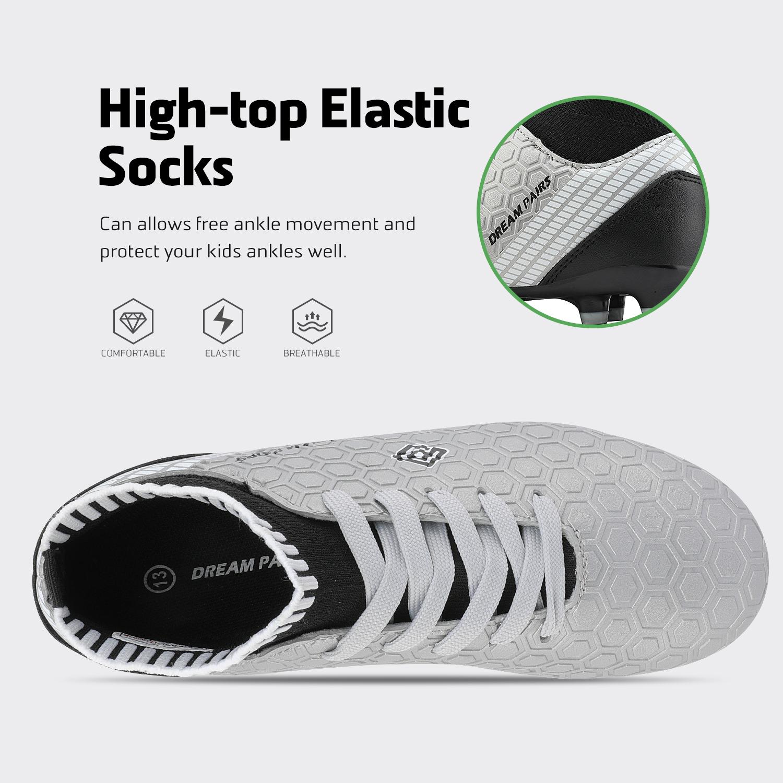 Dream-Paires-Garcons-Filles-Nouveau-Leger-HZ19007K-Football-Crampons-Soccer-Shoes miniature 11