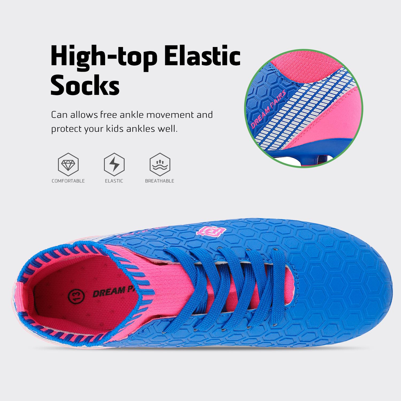 Dream-Paires-Garcons-Filles-Nouveau-Leger-HZ19007K-Football-Crampons-Soccer-Shoes miniature 17