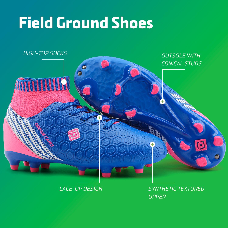 Dream-Paires-Garcons-Filles-Nouveau-Leger-HZ19007K-Football-Crampons-Soccer-Shoes miniature 18