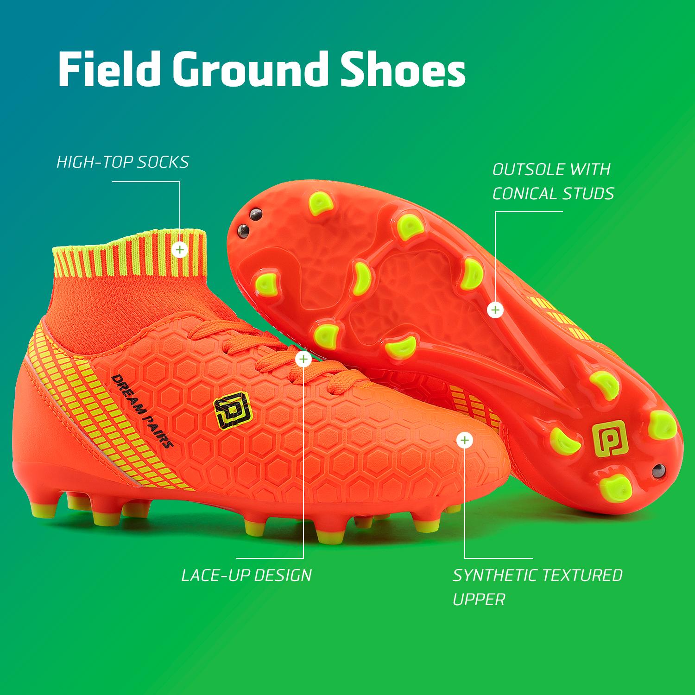 Dream-Paires-Garcons-Filles-Nouveau-Leger-HZ19007K-Football-Crampons-Soccer-Shoes miniature 24