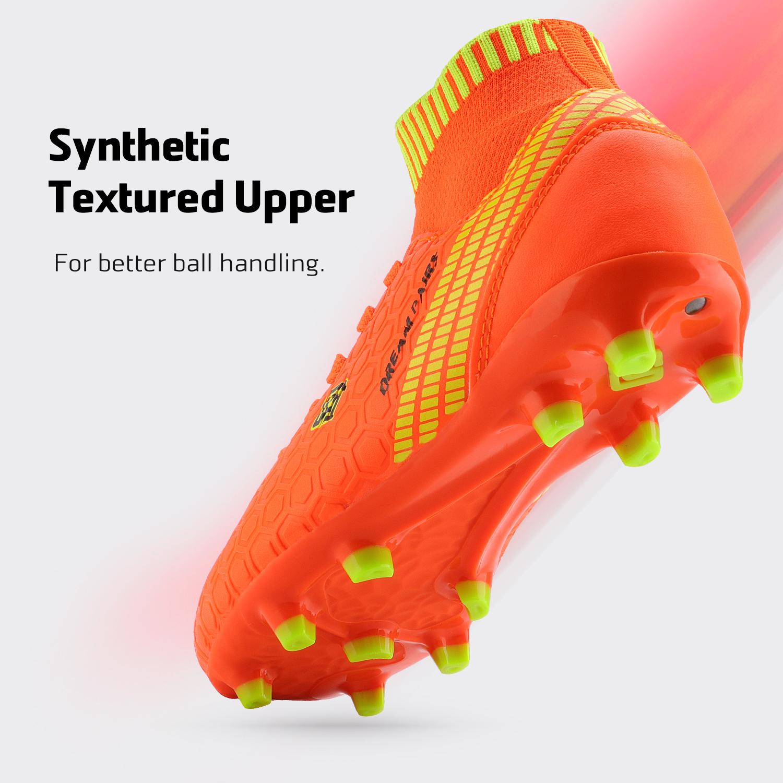Dream-Paires-Garcons-Filles-Nouveau-Leger-HZ19007K-Football-Crampons-Soccer-Shoes miniature 22