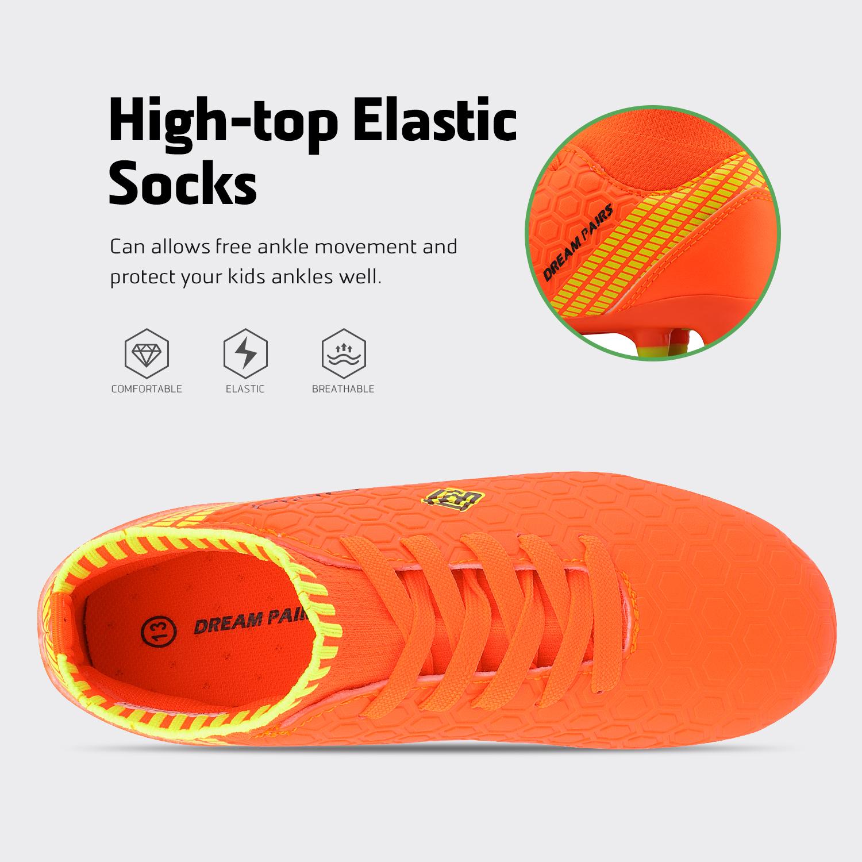 Dream-Paires-Garcons-Filles-Nouveau-Leger-HZ19007K-Football-Crampons-Soccer-Shoes miniature 23