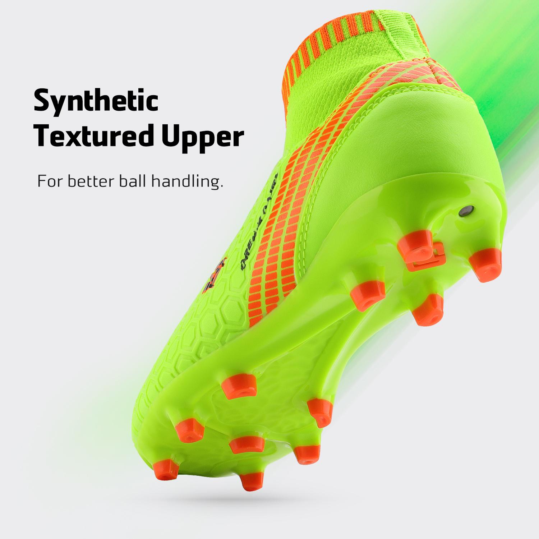 Dream-Paires-Garcons-Filles-Nouveau-Leger-HZ19007K-Football-Crampons-Soccer-Shoes miniature 28