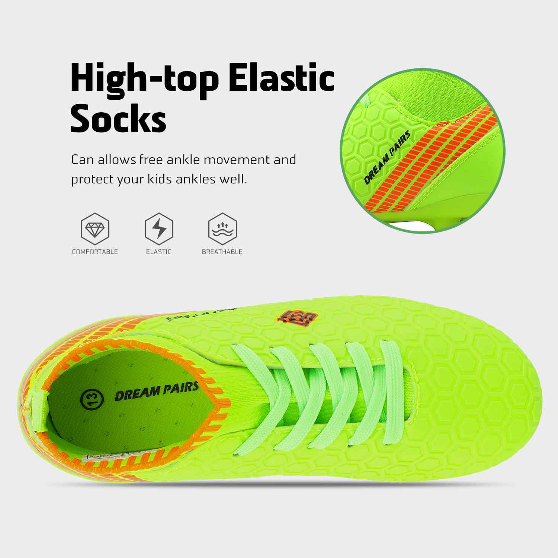 Dream-Paires-Garcons-Filles-Nouveau-Leger-HZ19007K-Football-Crampons-Soccer-Shoes miniature 29