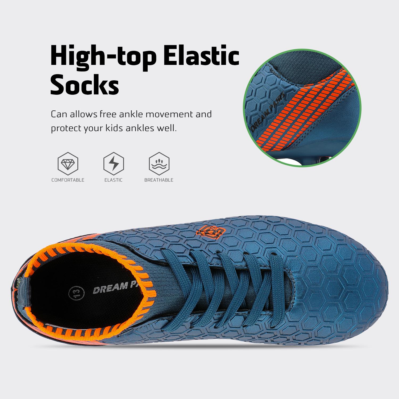 Dream-Paires-Garcons-Filles-Nouveau-Leger-HZ19007K-Football-Crampons-Soccer-Shoes miniature 35