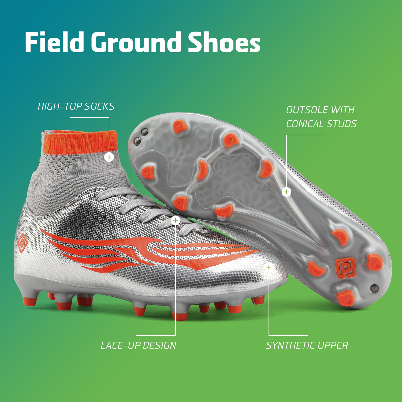 miniature 12 - Dream Paires Garçons Filles Soccer Football Crampons Chaussures (Bébé/Petit enfant/Big Kid)