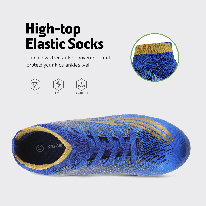 miniature 23 - Dream Paires Garçons Filles Soccer Football Crampons Chaussures (Bébé/Petit enfant/Big Kid)